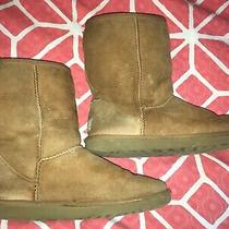 Ugg Womens Classic Short Ii Leather Suede Sheepskin Boots Chesnut Usa Size 8 Photo