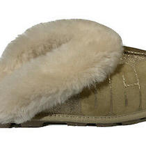 Ugg Womens Coquette Sparkle Fluff Slippers - Gold - Size 8 Photo