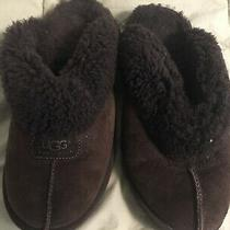 Ugg Women's Coquette Sz 6 Fluffy Slippers Brown Style 5125 Photo