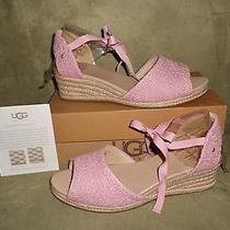 Ugg Women's Delmar Wedge Sandals Blush Size 10 New in Box Photo