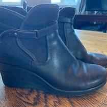 Ugg Women's Indra Wedge Heel Brown Side Buckle Waterproof Booties Size 7 Photo