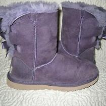 Ugg Womens Leather Sheepskin Boots 1002954 Purple Size 7 Guc Photo