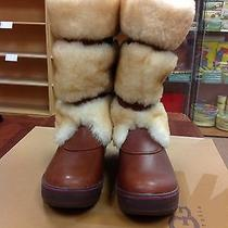 Ugg Women's Lilyan Mahogany Leather Boots Size 7 New in Box Photo