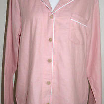 Ugg Women's Pink Coral  Herringbone Sleepwear Lounge Pajama Shirt Top Large New Photo