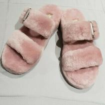 Ugg Women's Pink Fuzz Yeah Shearling Slide Sandals Slippers 110662 Size 9 Fur Photo