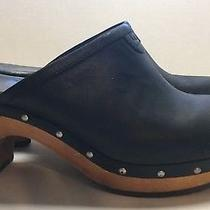 Ugg Women's Shoes Mules Black Leather Size 8 Photo
