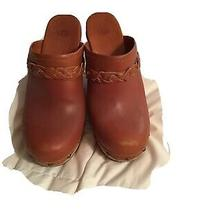 Ugg Women's Size 8 Brown Platform Mule Clogs Style F29012a Photo