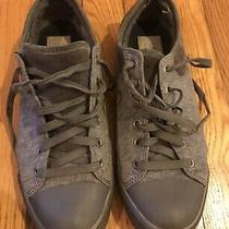 Ugg Womens Sneakers Rubber Woven Textile Lace Up Gray Size 8 Photo