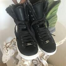 Ugg Women's Starlyn Winter Boot Sneaker Black  Size 8.5 - Photo