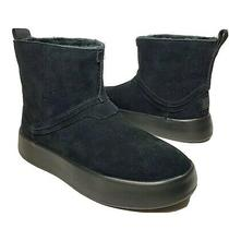 Ugg Womens Ankle Boots Bootie Classic Boom Black Suede Sheepskin Sz Us 8 39 New Photo