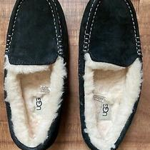 Ugg Womens Ansley 3312 Water-Resistant Suede Moccasin Slippers Size 8 Black Photo