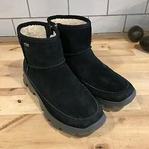 Ugg Womens Black Suede Bootie Sneaker Sole Palomar Side Zip Boots Size 8 M Photo