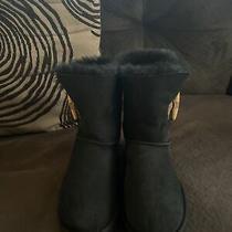 Ugg Womens Keely Genuine Sheepskin Boot Black Sz. 5 Suede Photo