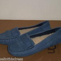 Ugg Womens Lonna Driving Moccasin Shoe Flats 7us Night Dusty Blue Nwob 140 Msrp Photo
