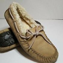 Ugg Womens Moccasins Slippers Leather 5131 Size 8 Dakota Genuine Sheepskin Tan Photo