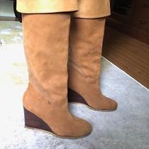 Ugg Womens Ravenna Leather Wedge Boots (Tan) Size 7 Photo