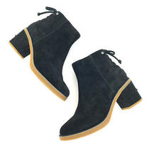 Ugg Womens Size 8.5 Corinne Black Suede Leather Lace Up Side Zip Ankle Booties Photo