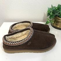 Ugg Womens Size 8 Tasman Slippers Dark Brown Suede Clog Photo
