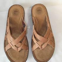 Ugg  Womens Slip on Sandals Shoes Size 8  Tan New Photo