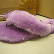Ugg Womens Slipper Fluff Flip Flop Dried Lavender Size 9 Photo