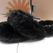 Ugg Womens Slipper Fluff Flip Flop Ii Black Size 9 Photo