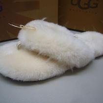 Ugg Womens Slipper Fluff Flip Flop Ii Natural Size 10 Photo