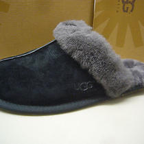 Ugg Womens Slippers Scuffette Ii Black Grey Size 8 Photo