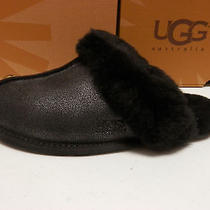 Ugg Womens Slippers Scuffette Ii Luster Black Size 8 Photo