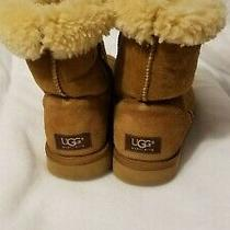 Ugg Womens Suede Boot Size 8 Us - Chestnut W/ Shearling Lining Photo