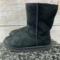 Ugg Womens Suede Ultimate Short Ankle Snow Boots Black Size 7 (B2) Photo