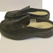 Ugg Womens Sz 5 Black Slip on Tiburon Patent Leather Mules Slides Shearling 5435 Photo