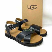 Ugg Zoie Womens All Sizes Sandal Leather Black 1116372  Photo