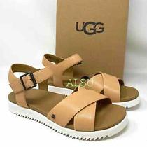 Ugg Zoie Womens Size Sandal Leather Tan 1116372 Photo