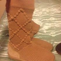 Uggs Argyle Crochet Cable Knit Size 7  Photo