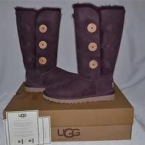 Uggs Australia Bailey Button Triplet W Boots Purple  Port 1873 Size 7  Authentic Photo