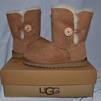 Uggs Australia Bailey Button Women Chestnut Boots 5803 Size 6 Authentic New Photo