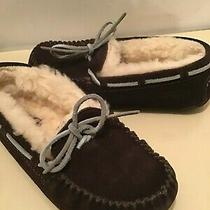 Uggs Australia Kids Brown Suede Moccasins Shoes Slip on Slippers Size 13 Photo