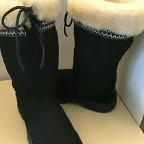Uggs Australia Ultimate Cuff 5273 Women Black Suede Boots Size 9 Photo