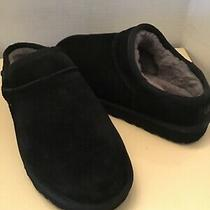 Uggs Australia Women Black Suede Classics Slip on Slippers Shoes Size 7 Photo
