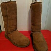 Uggs Australia Women Classic Tall 5815 Tan Suede Boots Size 8 Photo