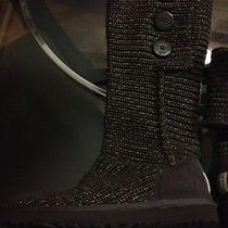 Uggs Boot Brown With Gold Photo