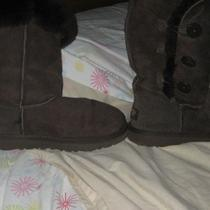 Uggs Dark Brown Boots Girl Size 4 a Womens Size 6 Photo