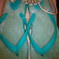 Uggs Fluffie Sandals Sheepskin Pool Teal Flip Flops Womens Us 9 Thong Sandal Photo