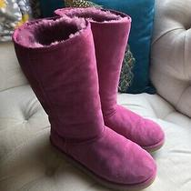 Uggs Fuchsia Classic Tall Boots Big Kids Size 6 Photo