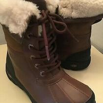 Uggs Kids Butte Ii Worchester Leather Suede Waterproof Boots Euro 33.5 Us Size 2 Photo