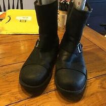 Uggs Men Boots Preowned Black 12 Biker Style Photo
