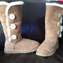 Uggs Modern Triple Button Suede Tall Boot Size 7 Photo