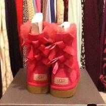 Uggs Pink Bow Bailey Size 1 Photo