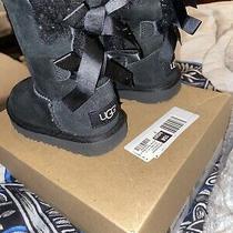 Uggs Toddler Black Boots Size 7 usa/23.5 Eu Photo