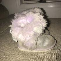 Uggs Toddler Girls Gray Now Unicorn Lavender Boots Size 10 Photo